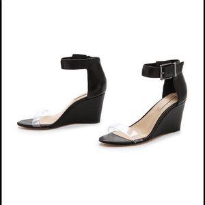 bcbgmaxazria ma latch wedge sandals heels
